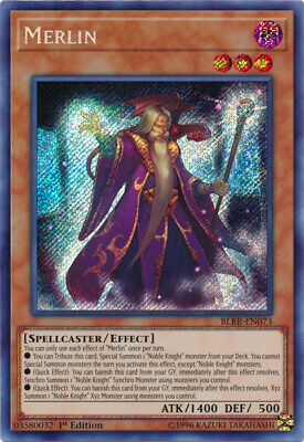 Yugioh! Merlin - BLRR-EN073 - Secret Rare - 1st Edition Near Mint, English