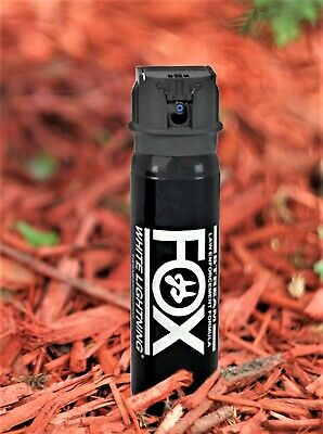 Fox Labs White Lightning 3oz Tactical Flip-Top HOT Police Defense Pepper Spray