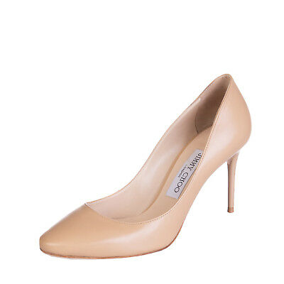 JIMMY CHOO Leather High Heel Court Shoes Size 37.5 UK 4.5 Made in Italy