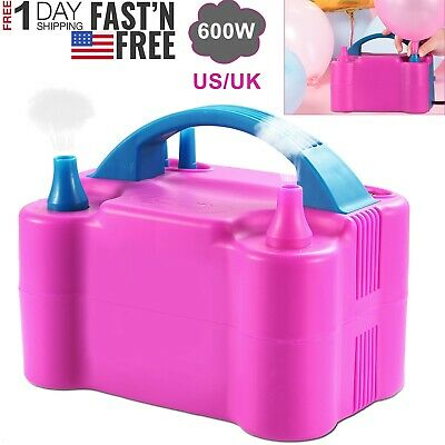 Portable Dual Nozzle Electric Balloon Blower Pump Air Inflator-party 110v - 600w