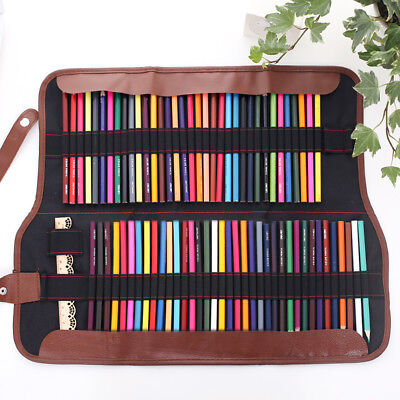 Kids Coloring Pencils Arts Crafts Drawing Pencil Roll Up Storage Case Holder