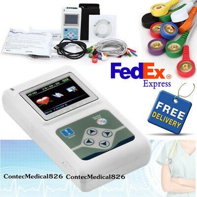 USA Newest 12-channel ECG/EKG Holter System/Recorder Monitor ​Analyzer Software
