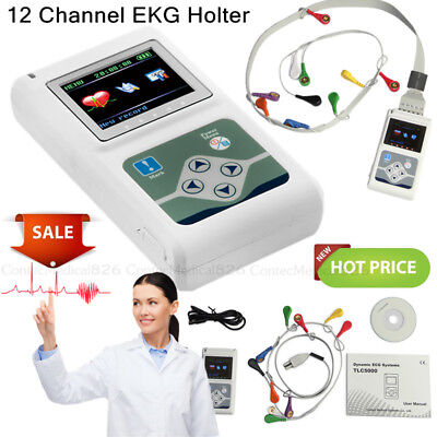 24 Hours Dynamic ECG Holter 12 Channel 12 Leads EKG Holter Monitor Analyzer,USA