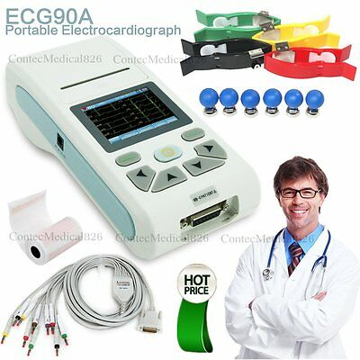 Digital 1 channel Touch ECG/EKG machine Electrocardiograph+SW+Printer+2G Card