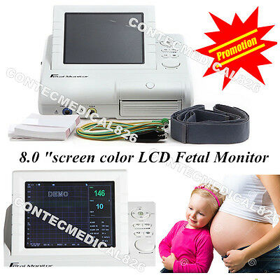 CMS800G CE Marked Fetal Monitor FHR TOCO Movement Mother Monitor+Free Printer