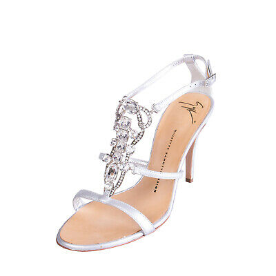 GIUSEPPE ZANOTTI Leather Ankle Strap Sandals EU38.5 UK5.5 Made in Italy