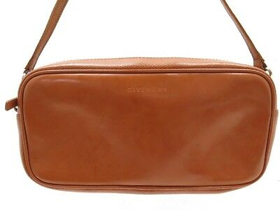 365530cfc3 Sac A Main Givenchy 23 Cm Pochette En Cuir Camel Brown Leather Clutch Bag  600€