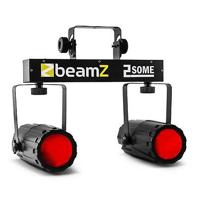SET EFFETS DE LUMIERE BEAMZ 2 SOME 2xSPOT 62 LEDs RVBB MICRO SUPPORT LICHTEFFECT