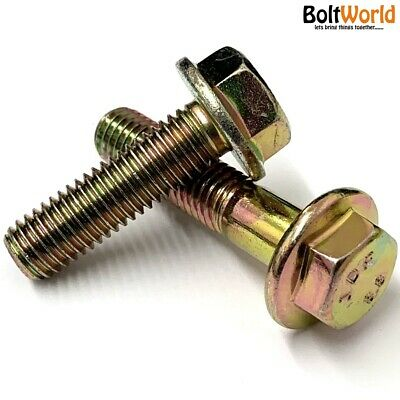 Flanged Hexagon Bolts High Tensile 8.8 Plated Steel Flange Hex Screws M6 M8 M10