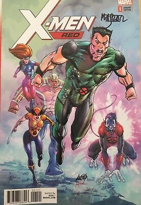 Signed!! Marvel X-Men Red #1 Liefeld Variant Legacy 1St Appearance Trinary 1:50