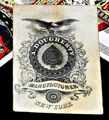 Extremely Rare! Original Andrew Dougherty 1865 Civil War Playing Cards