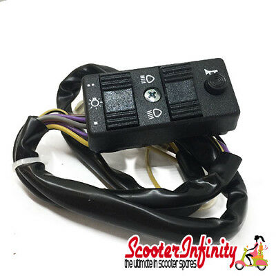 Light Switch (Shutter with battery, 6 wires, 1 plug, 5 pins) Vespa PX80-200E/MY