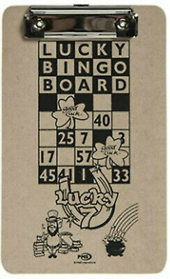 Lucky Bingo Clip Board With Single Top Clip To Hold Bingo Card - 1St Class Post