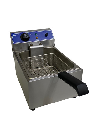 10 Litre Single Tank Electric Chip Fryer Table Top With Safety Cut Out