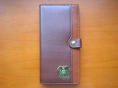 07's series China PLA Special Forces Wolf Badge Officer Genuine Leather Wallet,C