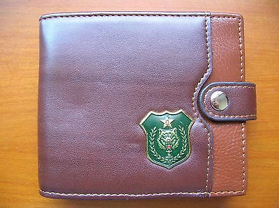 07's series China PLA Special Forces Wolf Badge Officer Genuine Leather Wallet,A