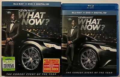 Kevin Hart What Now Blu Ray Dvd 2 Disc Set + Slipcover Sleeve Free Shipping