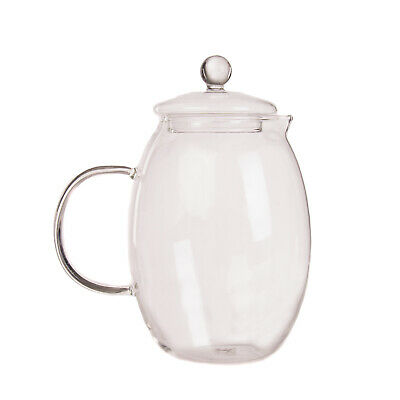 BITOSSI HOME Teira Vetro Teapot Made of Pyrex® Glass Transparent 1400 ML