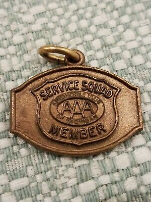 Rare Vintage AAA Service Squad Automobile Club Of Michigan Bronze Charm