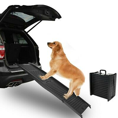 Foldable Dog Ramp for Car Truck SUV Backseat Stair Steps Auto Travel Ladder