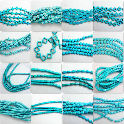 Charm Strand Blue Turquoise Loose Beads 15'' Findings Wholesale Gemstone Spacer