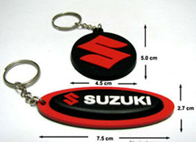 Suzuki Factory  Motocross Bike  Rubber Key chains / Key Ring Red Set