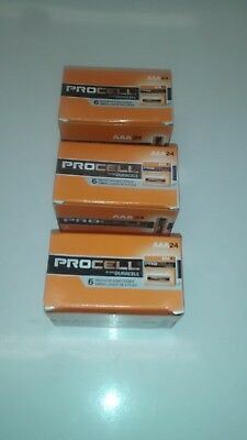 New Duracell Procell Aaa Alkaline Batteries 72 (3 Boxes Of 24) Fast Shipping