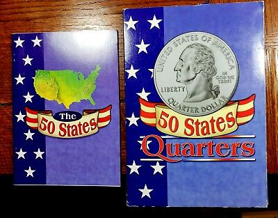 50 US State Quarters Almost Complete Set-3 Quarters 1999-2008 & 28 Page Booklet