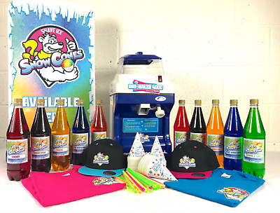 Snow Cone Machine Starter Package, Slush Maker, Ice Shaver, SnowCones, Slushie