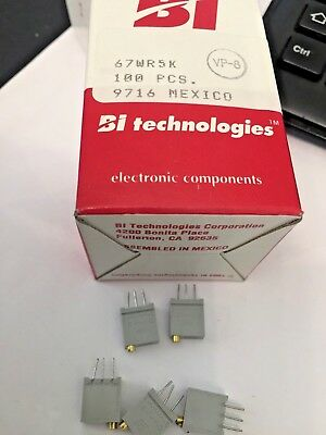 Bi Technologies 67Wr5K  Trimmer Trimpot, Potentiometer New 10 Off