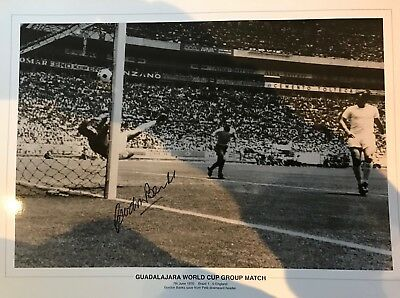 GORDON BANKS SIGNED PELE SAVE OF THE CENTURY B2 Size PHOTO FROM HIS AGENT £15