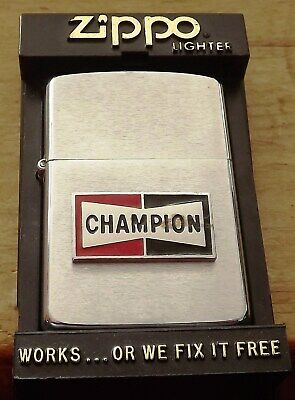 1987 Champion Zippo Lighter In Box