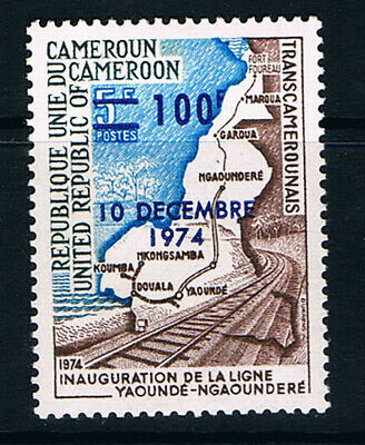 Cameroon stamp, 1974 Overprint and surcharge #788 Scott 596 MNH