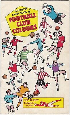 Hotspur Comic- Football Club Colours + Rugby+Scots + Irish 1969 Insert Free Gift