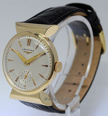 Longines Vintage Midsize 14k Yellow Gold Fancy Watch Box/Papers