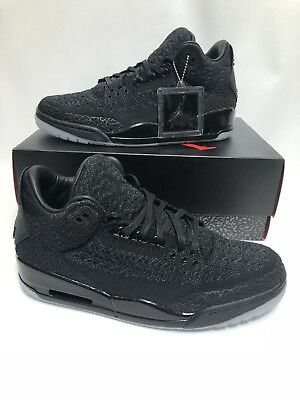 f0b5f18526856 Nike Air Jordan 3 Retro Flyknit Black Anthracite Glow In the Dark AJ3  AQ1005-001