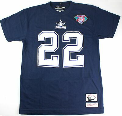 ad9b3702b Emmitt Smith Dallas Cowboys  22 Mitchell   Ness Men s Throwback T Shirt -  Medium