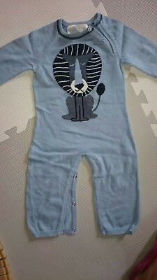 EUC Lucky Jade Baby Boy Knit Coverall Size 6-12 Months