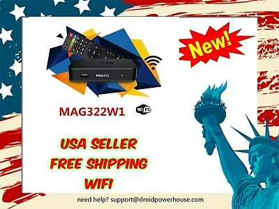 NEW MAG322W1 IPTV SET-TOP BOX INFOMIR WiFi updated verson of MAG 254/256