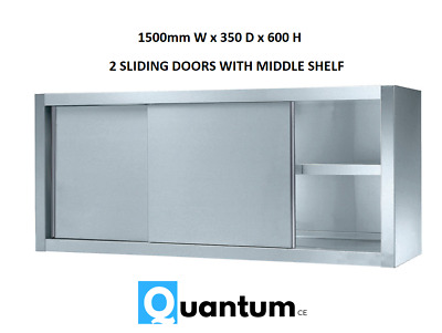 1500mm Wall Hanging Cupboard Commercial Storage Stainless Steel