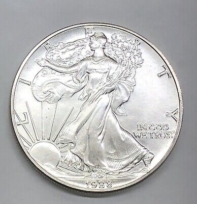 1988 $1 American Silver Eagle BU Brilliant Uncirculated