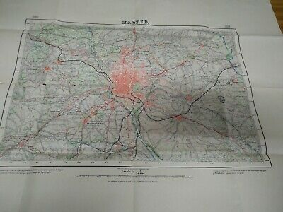 mapa original  MADRID 1916