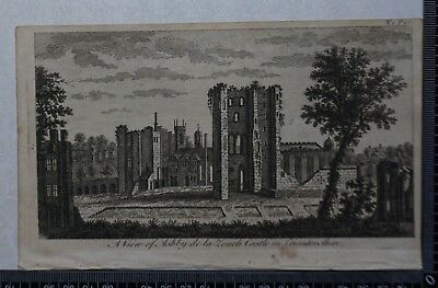 1776 - Engraving of View of Ashby-de-la-Zouch Castle in Leicestershire