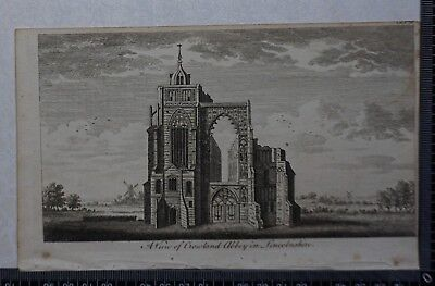 1776 - Engraving of a View of Crowland Abbey in Lincolnshire