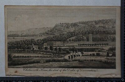 1776 - Engraving of Chatsworth House, the Seat of the Duke of Devonshire