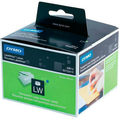 Dymo LabelWriter Labels Large Address Plastic 36x89mm Clear 99013 PK 260