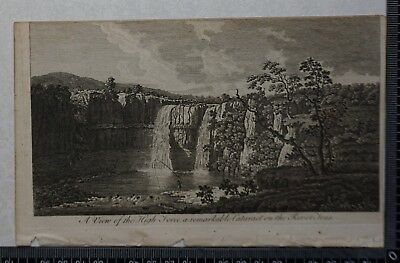1776 - Engraving of View of the High Force, a remarkable Cataract on River Tees