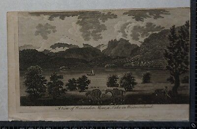 1776 - Engraving of View of Winander Mere, a Lake in Westmoreland