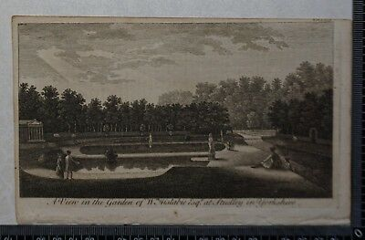 1776 - Engraving of a View of Wm. Aislabies Garden at Studley in Yorkshire