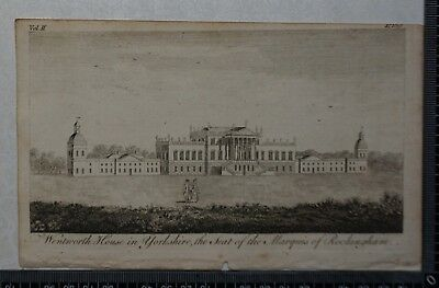 1776 - Engraving of Wentworth House in Yorkshire, Seat of Marquis of Rockingham